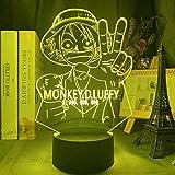 Anime Lights 3D LED Monkey Figure Kids Night Light Led Color cambiante Ambiente de la decoración de la mesita de noche lámpara de escritorio LED luces de noche