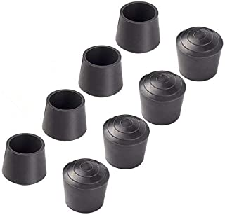 Jocon SF9001 Rubber Leg Tips Shelf End Cap Tips 1 inch Dia (25mm), 8 PCS, Black