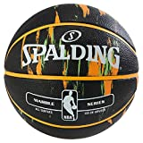 Spalding Marble Out - Balón de baloncesto, color negro y multicolor