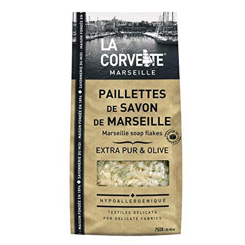 La Corvette, Autentico sapone di Marsiglia in scaglie, 100% vegetale, 750g