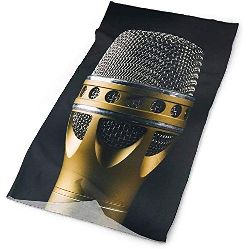 Quintion Robeson Hardware de micrófono Dorado Audio Headwrap Unisex Multifunción Headwear Poliéster...
