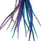 Extensiones de plumas reales para el cabello