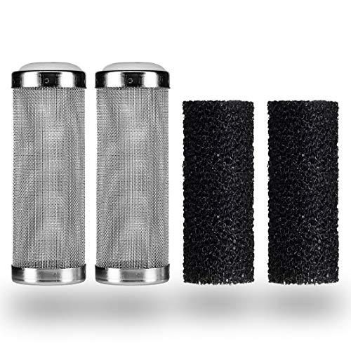 HONGECB 2 Piezas Protector De Filtro De Acuario, para La Protección del Percolador De Acuario Inhalación De Camarones Y Peces, 2 Piezas Esponja Filtro (16mm).
