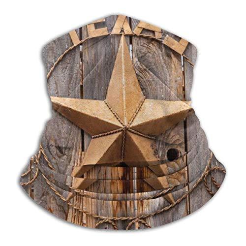 Trista Bauer Sturmhaube Altes Texas-Stern-Zeichen auf Holzzaun nahe Moab Utah, USA Bequeme Sturmhaube