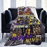 JONINOT Manta De La Siesta Felpa Sofás Franela Kobe-Black-Mamba Buen sueño L127cm x W102cm/40 x50