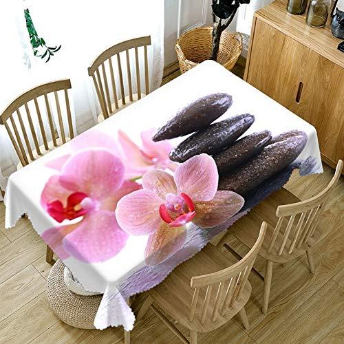 XXDD Mantel Personalizado 3D Magnolia Blanca Flor patrón Mantel a Prueba de Polvo Mantel Boda Vacaciones Mantel A14 150x210cm