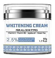 Whitening Cream, Isend Skin Lightening Cream Freckle Removal Cream Moisturising Cream Anti Ageing Fa...