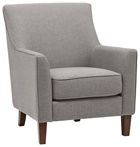 Amazon Brand – Stone & Beam Cheyanne Modern Living Room Accent Arm Chair, 30.7'W, Storm