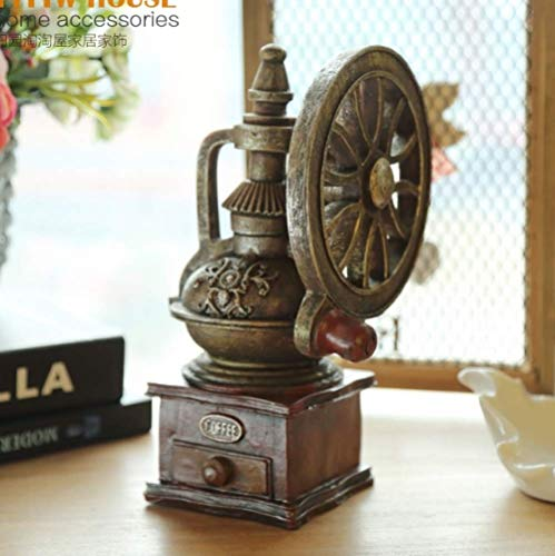 LBYLYH Home Tuin Beeldje Standbeeld Decor Ornament Oud-Fashioned Retro Koffiemachine Model Hars Craft Decoratie