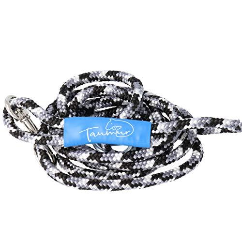 Taumur Sebrahesturborg - leichte City Hundeleine - grau/schwarz/weiß - Leine für kleine Hunde aus robustem PPM
