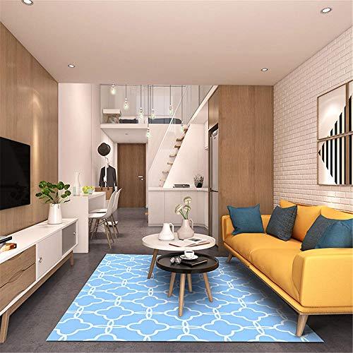 Kunsen Xl Rug Blue cloud pattern children's comfortable carpet soft and fade-free carpet Pink Rugs Outdoor Rug blue 120X180CM