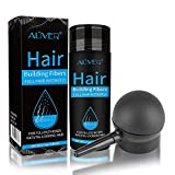 Aliver Hair Fibers for Thinning Hair with Spray Black - Undetectable Natural Formula - Thicker Fuller Hair in 15 Seconds - Conceals Hair Loss & Look Younger - Designed for Men & Women,0.97Oz