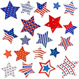 Patriotic Sticker 4th of July Stars Metallic Red, White & Blue Star 80Pcs