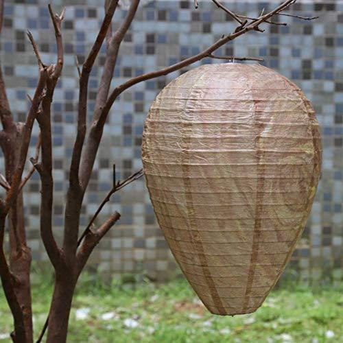 Reeseiy Bienenstock-Laterne Papierwespen-Abweisende Laternen-Wespen-Führer-Laternen-Lampen Dekorative Im Chic Freien Abschreckende Bienen-Blockierpapier-Bienenstock-Laternen-Wespen-Hornissen