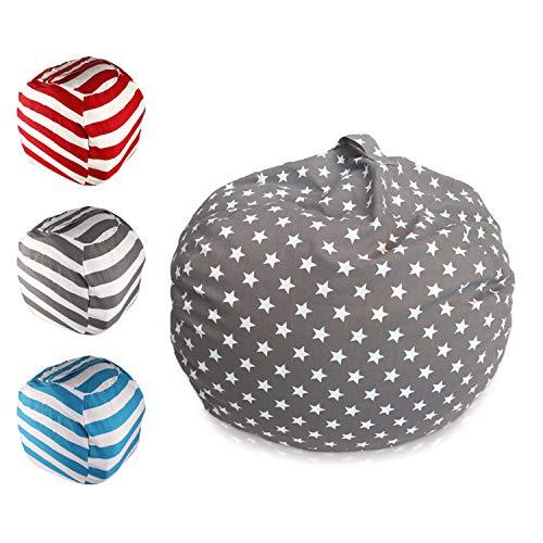 Spielzeug Aufbewharungstasche, Sitzsack Aufbewahrung, Kinder Sitzsack, Kuscheltier Aufbewahrung, Sitzsack Spielzeug Aufbewahrungstasche mit Reißverschlus|24 inch |für Kleidung,Spielzeug & Täglichen