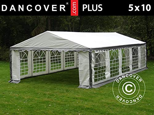 Dancover Partytent PLUS 5x10m PE, Grijs/Wit