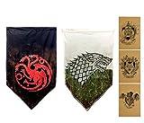 ZCWOLTM Regalos de cumpleaños para el Hijo, [113X67CM] Stark Targaryen, Juego de Tronos Banderas para el Aula Dormitorio Jardín