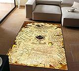 Personalidad Alfombras Alfombras Harry Potter Americano Retro Mágico Mapa Del Mundo Sala De Estar Mesa De Café Dormitorio Alfombras De Noche Decoración 140Cm * 200Cm