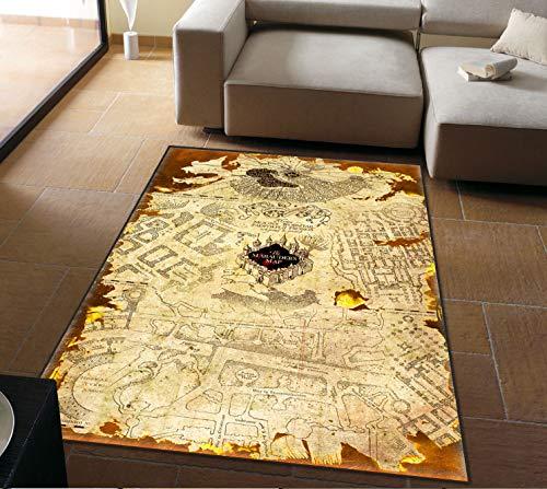 Tappeti Di Personalità Harry Potter American Retro Magic World Map Soggiorno Tavolino Camera Da Letto Comodini Tappeti Decorazione 80 Cm * 120 Cm