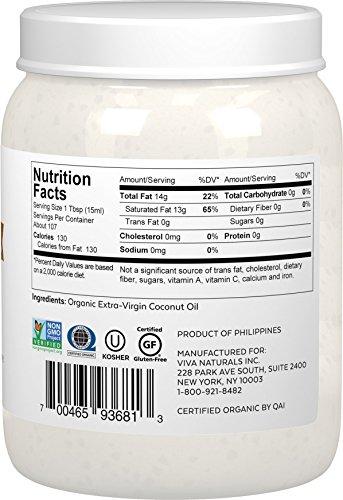 Product Image 9: Viva Naturals Organic Extra Virgin Coconut Oil (54 Oz) – Non-Gmo Cold Pressed