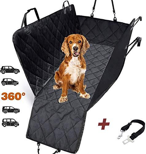 AMZPET Hundedecke / Autoschondecke für Auto Rückbank, wasserfest mit Seitenschutz, Universalgröße. 3 in 1: Auto Sitzbezüg Schutz, Kofferraumdecke für Hunde