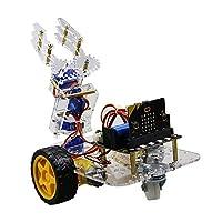 Aibecy Micro:bitメカニカルアームスマートロボットカーDIYキットサポートグラフィカルプログラミングSTEM教育玩具BT付き子供学生大人