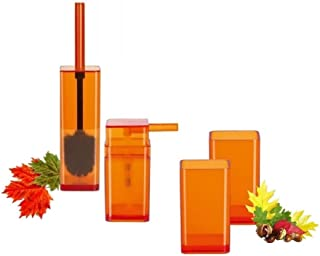 Spirella Cubo Clear Orange  オレンジ 4 ヶバスセット