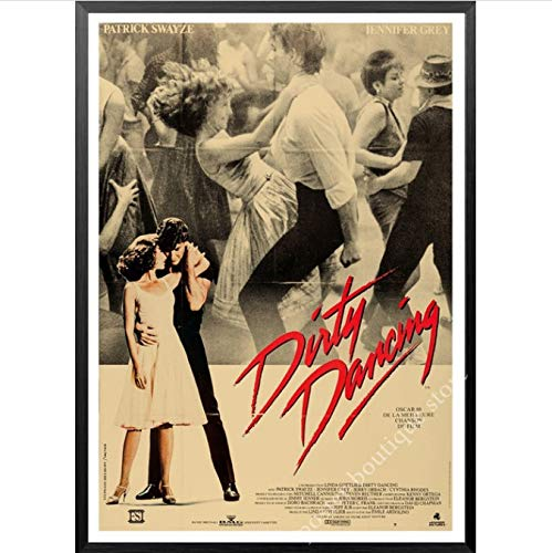 wqmdeshop Dirty Dancing Poster Vintage Classic Movie Poster Home Room Bar Wall Decor Decoration Canvas Painting Poster Frameless Painting 40X50Cm (U1411)