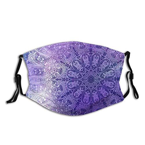Toalla de té unisex multiuso, con diseño de mandala, en colores vibrantes, reutilizables, para proteger la cubierta transpirable para ir al aire libre, escuela, compras, deporte