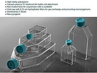 Azzota 5pcs, Sterilized Cell Culture Flasks - 250ml, 75cm2, Vent Cap