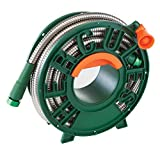 Pocket Hose Hercules Hose Stainless Steel Garden Hose by BulbHead, the Heavy Duty,...