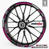 Felgenrandaufkleber RS - Komplettset für 15' 16' 17' 18' 19' - Farbe & Design wählbar - Pink,...
