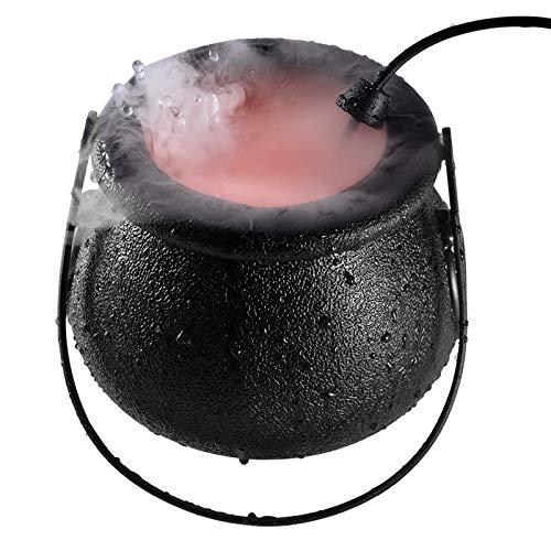 Aibecy Pote de bruxa de Halloween para criador de névoa de Halloween com luz LED variável