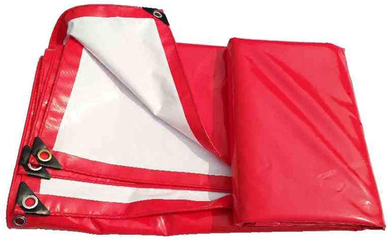 ATR Regenschutztuch wasserdicht Plane rot und wei Dual-Use-Feier Zelt wasserdichtes Tuch, wasserdichte Plane im Freien feuchtigkeitsBestendiges Fracht Staubtuch