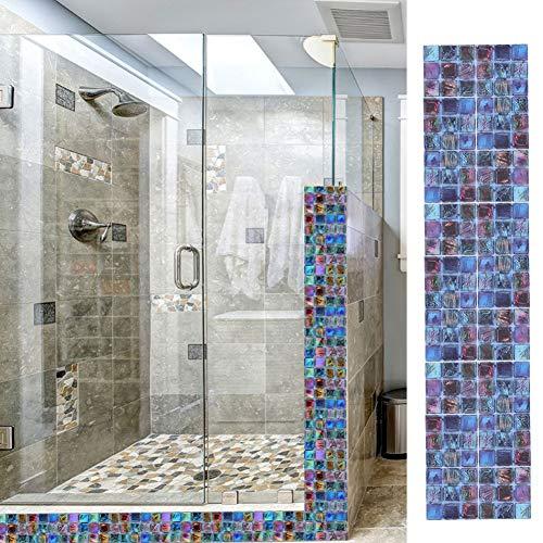 Adhesivos decorativos de PVC para azulejos, adhesivo de pared impermeable para despegar y pegar, fácil de limpiar sin dejar marcas, elegante y hermoso