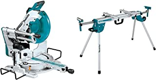 Makita LS1219L 12-Inch Dual-Bevel Sliding Compound Miter Saw with Laser & WST06 Compact Folding Miter Saw Stand