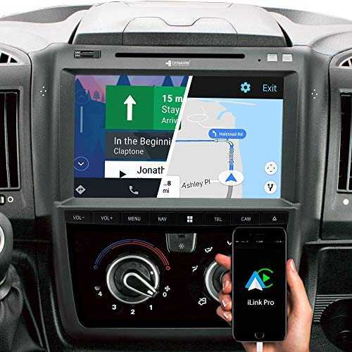 DYNAVIN Autoradio Navi für FIAT Ducato Citroen Jumper II Peugeot Boxer II: 10 Zoll OEM Radio mit Android Auto, Bluetooth, inkl. DAB+, USB; N7-DCX Pro