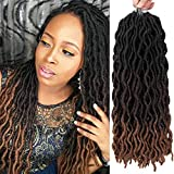 Gypsy Locs Crochet Hair 18inch Wavy Faux Locs Crochet Hair6packs Gypsy Locs Crochet Braids Hair Wavy Gypsy Locs Crochet Hair For Black Women