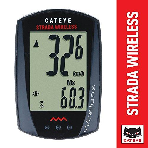 Cateye Fahrradcomputer Strada Wireless CC-RD 300W, schwarz