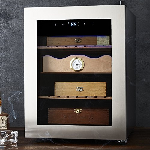 Cigar Enthusiast Humidor - Maintains ideal temperature and humidity for cigars - Spanish Cedar wood drawer and shelves
