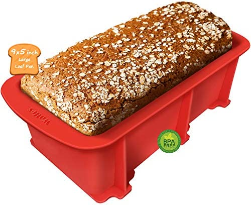 Walfos Silicone Loaf Pan Non Stick Bread Baking Pan 9 x 5 inch Perfect for Bread Cake Meatloaf product image