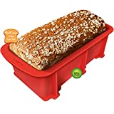 Walfos Silicone Loaf Pan - Non-Stick Bread Baking Pan, 9 x 5 inch, Perfect for Bread, Cake, Meatloaf, BPA Free and Dishwasher Safe
