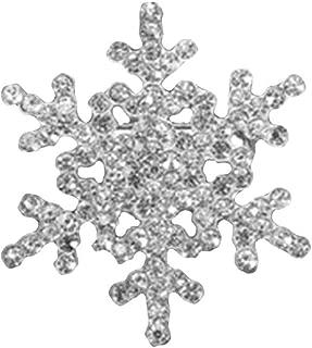 Rhinestone Snowflake Brooch Pins Winter Christmas Wedding Crystal Brooch Jewelry for Women