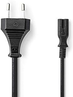 Nedis Stroomkabel | Euro Male | IEC-320-C7 | Recht | 2x 0.75 mm² | Koper | Plat | Nikkel | H03VVH2-F 2x0,75 mm² | PVC | St...
