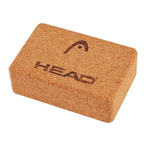 HEAD Bloque de yoga de corcho 100 % natural de alta densidad para yoga, pilates, superficie de apoyo suave, antideslizante, mejora la fuerza y el equilibrio