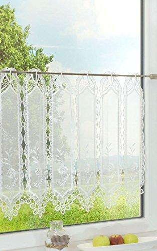 LYSEL Scheibengardine Steingarten (Bx H) 220cm * 30cm weiß/perlweiß