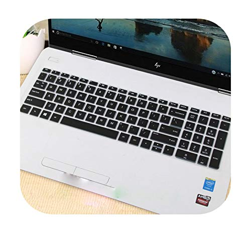 15.6 inch Laptop Keyboard Cover Protector Skin for HP Pavilion 15s dy0002TX dy0003TX dy0005TX dy0006TX 15s-du0005TX cs2015TX-Black-