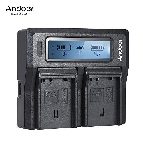 Docooler Andoer En-El15 Dual Channel Carregador De Bateria Da Câmera Digital W/Display Lcd Para Nikon D500 D710 D7000 D7000 D750 D800 D800 D7200