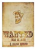 Poster Wanted im Wild West Look 42 x 30 cm - Tolle Deko