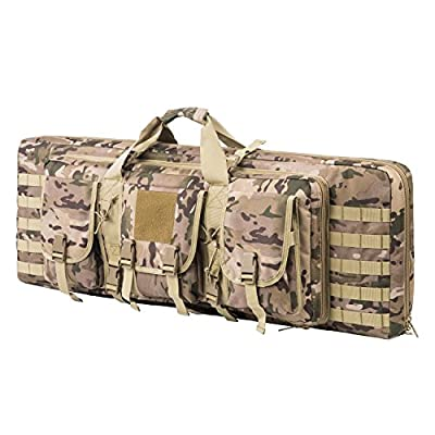 ARMYCAMOUSA 38 Inch Double Rifle Bag Outdoor Tactical Carbine Cases Water dust Resistant Long Gun Case Bag for Hunting Shooting Range Sports Storage and Transport